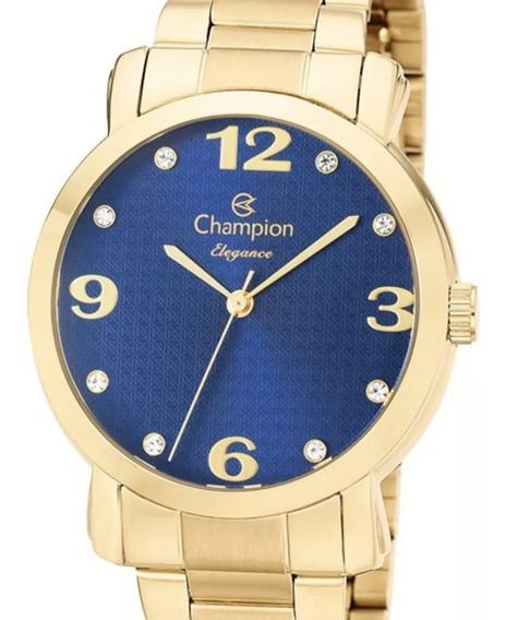 Relógio Champion Feminino Cn26279y Dourado + N. Fiscal
