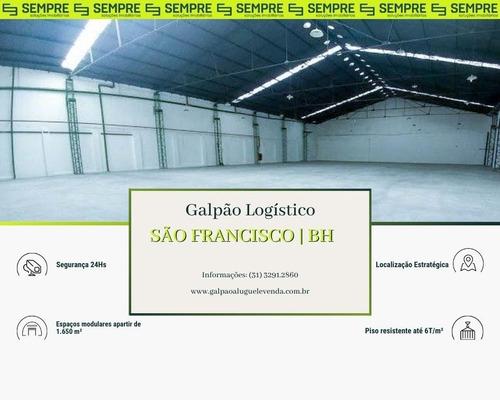 Imagem 1 de 21 de Galpão Para Alugar, 1.650 M² - São Francisco - Belo Horizonte/mg - Ga0014