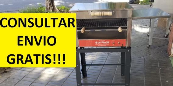 Parrilla Electrica Sol Real Sin Humo 49x50cm Bajo Consumo