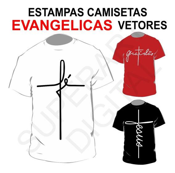 Artes Camisa Gospel Evangélicas Fé Gratidão Jesus Sublimação