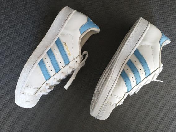 Tênis adidas Super Star Couro Original Masculino Feminino