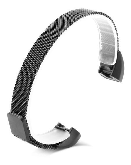 Cinta Líquido Aço Inoxidável De 12mm Para Fitbit Alta / A