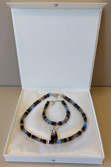 Conjunto Colar, Bracelete, Brinco - Coeur De Lion® -original