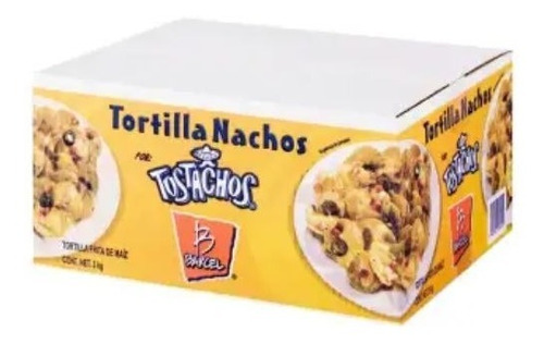 Imagen 1 de 3 de Nachos Barcel Tostachos 3 Pzas Con 1 Kg