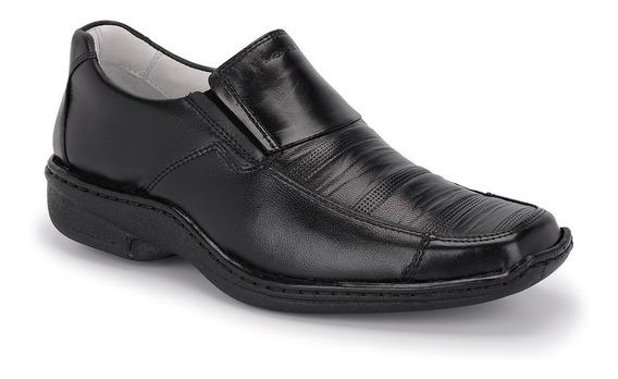 Sapato Social Masculino Esporte Fino Ortopédico Em Couro 821