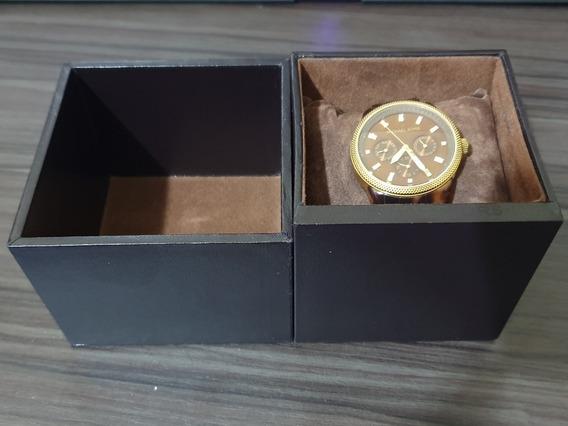 Relógio Michael Kors Mk5038 Tartaruga Dourado Swarovski