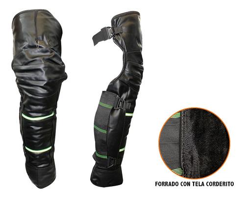 Cubre Piernas Moto Largo Negro