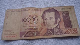 Billete Antiguo De 10.000 Bs Para Coleccionista Del 2001