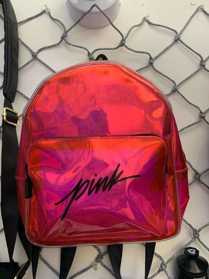 Victoria Secret Pink Mochila Chica Tornasol