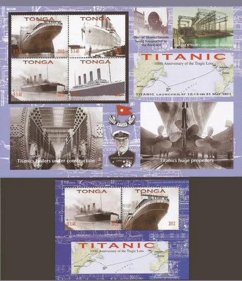 2012 Aniversario Del Naufragio Titanic - Tonga (2 Bloques) M