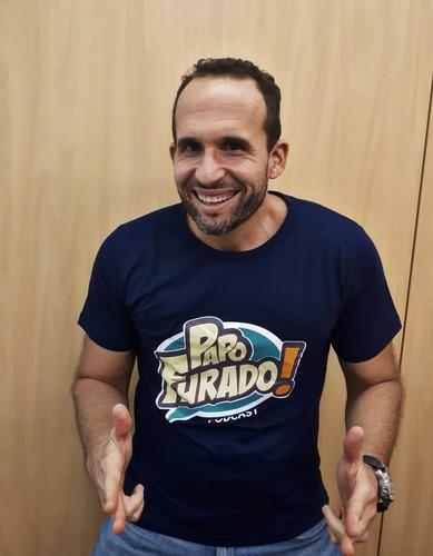 Camisa Papo Furado Podcast Masculina (azul Marinho)