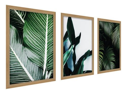 Quadros Decorativo Folhagem Botanico Médio Sala Quarto Folha