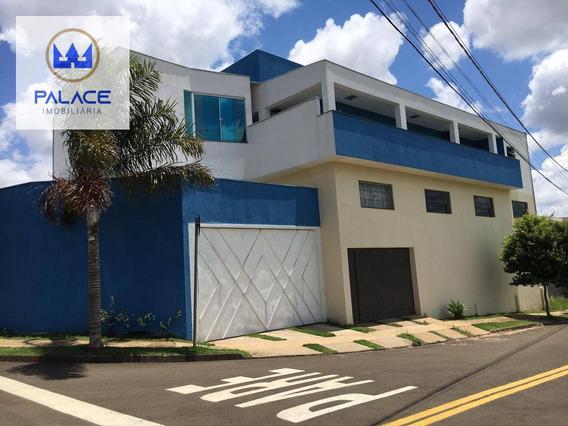 Casa Com 3 Dormitórios À Venda, 300 M² Por R$ 650.000 - Água Branca - Piracicaba/sp - Ca0448