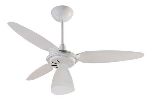 Ventilador de teto Ventisol Wind Light branco com 3 pás de plástico, 96cm de diâmetro 220V