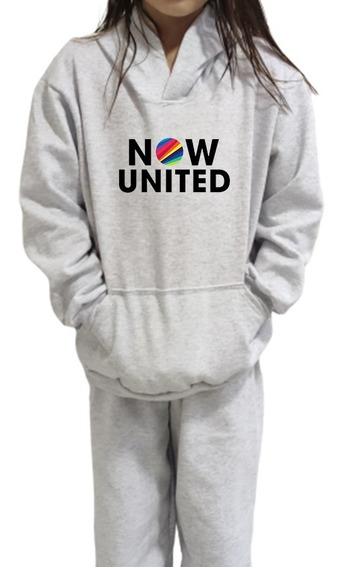 Kit Blusa De Frio Now United + Calça Moletom Infantil