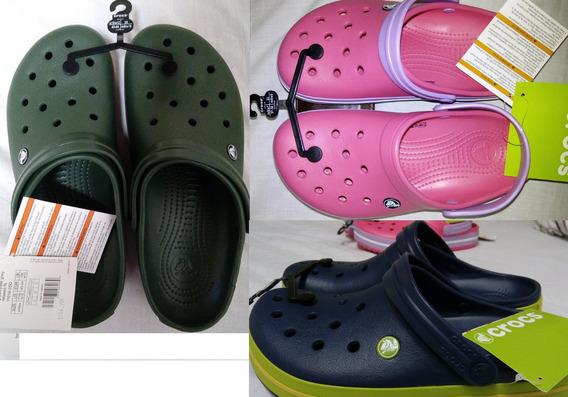 Crocs Crocband Navy/volt Green/lemon Relaxed Fit