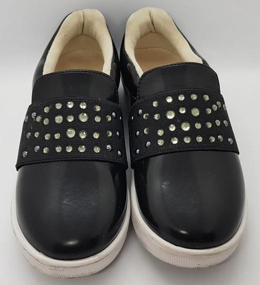Tênis Sneaker Pampili Menina Semi Novo Preto N° 30