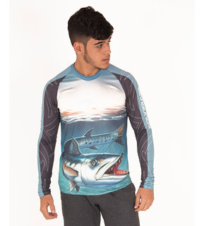 Camisa De Pesca Esportiva Barracuda Uv - Dryfit Soly Brasil
