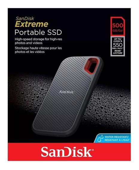 Ssd Sandisk 500gb Extreme 550 Mb/s Externo Portátil C / Nf