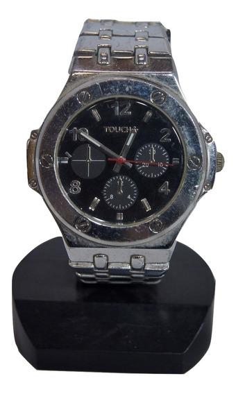 Relógio De Pulso Touch Prata