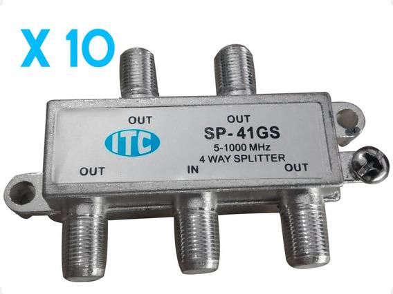 Divisor Splitter 1:4 Catv Satélite 1 Ghz Sp-41gs 10 Unidades