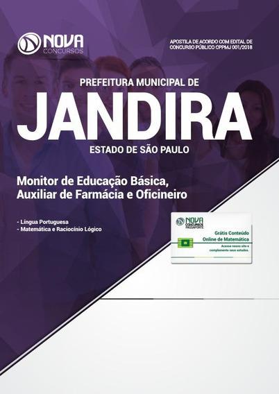 Apostila Jandira Sp 2018 - Monitor De Educação Básica