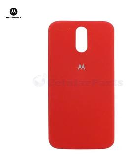 Tampa Bateria Motorola Xt1640 - Moto G4 Plus / Vermelho Orig