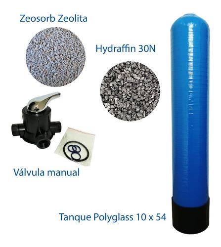 Tanque Polyglass 10x54 Valvula Manual + Medio Multimedio