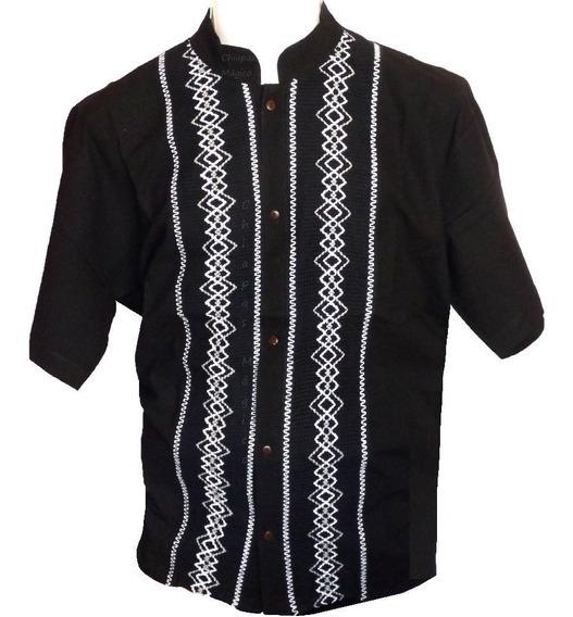 Camisas De Chiapas Talla Xl / Presidencial / Negras / Manta / Ngr