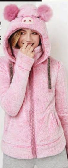 Chamarra Cerdito Para Niñas Marca Pink By Price Shoes