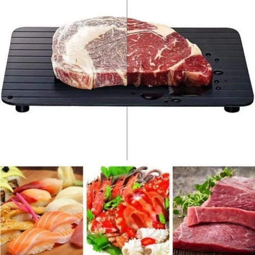 Imagem 1 de 5 de Placa Descongelar Alimentos Carnes Rápida Bandeja Tábua