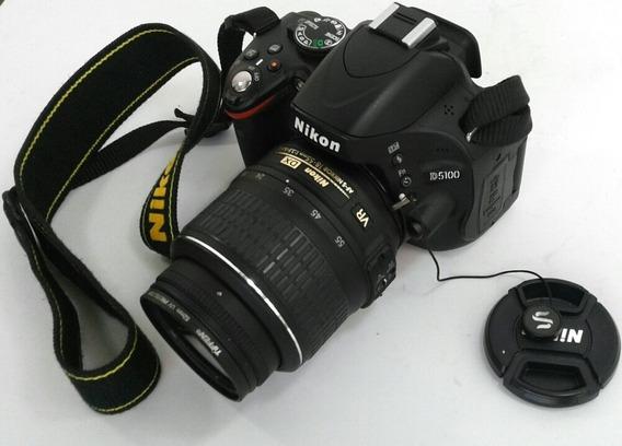 Camera Digital Nikon D5100 Pouquíssimo Uso + Bateria Extra