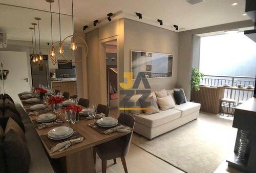 Esplendido Apartamento Com 2 Dormitórios À Venda, 54 M² Por R$ 383.000 - Bonfim - Campinas/sp - Ap6589