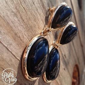 Brinco - Obsidiana Negra