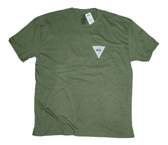 Playera Vans Triangular Logo Verde Jaspe Xxl 2x adidas Rvca Nike Urban Beach