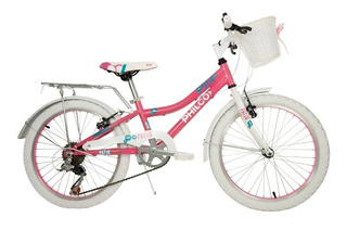 Bicicleta Philco De Niña Patio Rodado 20 6v Con Canasto