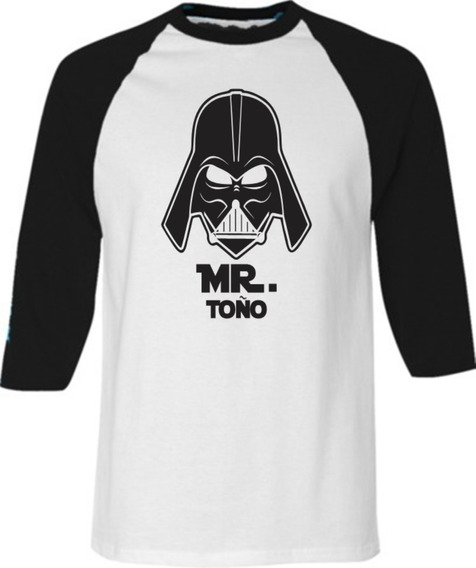 Par Playeras Beisboleras Amor Pareja Mr Mrs Star Wars Cr9628