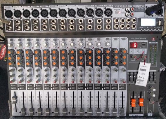 Mesa De Som Soundcraft Sx1602fx Usb C/garantia E Nf