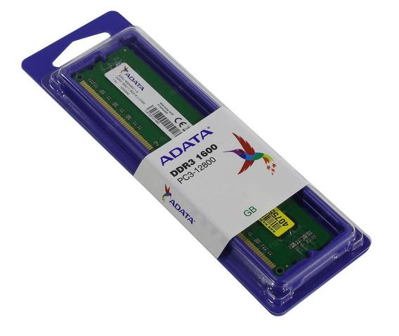 Memoria Ram Pc 4gb Adata Dimm Ddr3 1600 Mhz