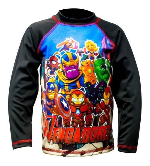 Franela Protección Uv Para Niños! - Avengers