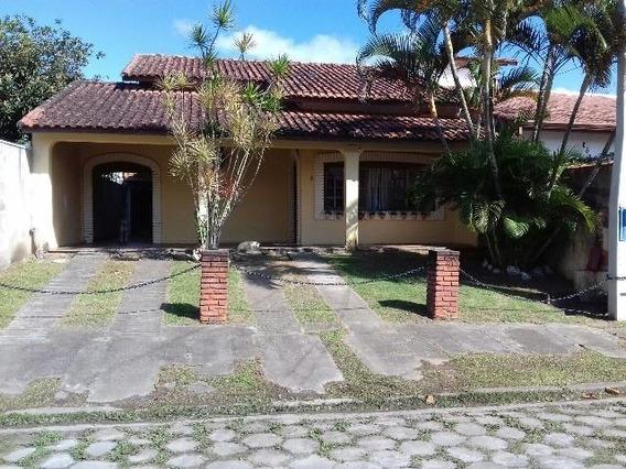 Linda Casa Lado Praia Com 3 Quartos Em Peruíbe, Visite!