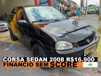 Chevrolet Corsa Sedan 2008 Financiamento Com Score Baixo