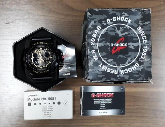 Relógio G-shock Ga-100cf-1a9dr Preto Novo - Original