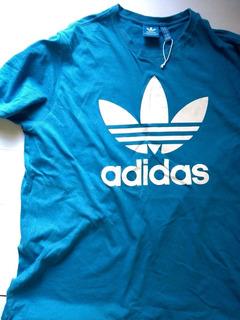 Camisa adidas Original Azul Masculina