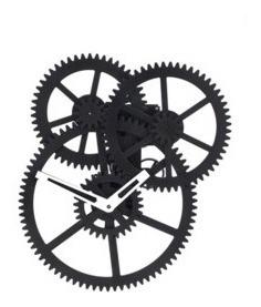 Triple Gear Clock: Reloj De Pared (cl59)