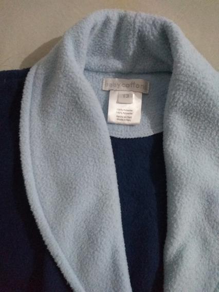 Bata Polar Baby Cortina Talle 3 Años Azul