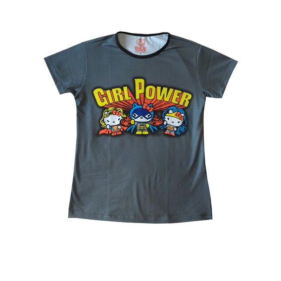 Blusa Baby Look - Hello Kitty Girl Power - Geek