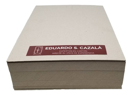 Cartón Gris Nacional A4 - Espesor 2.0 Milímetros - X50 Hojas