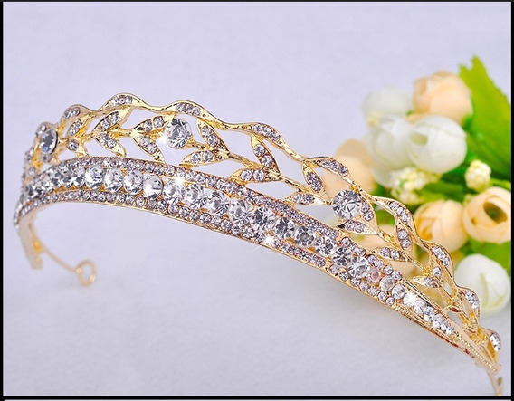Coroa Dourada Para Noiva Ou Debutante Frete Gratis