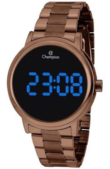 Relógio Digital Unissex Champion Ch40142r Marrom